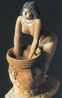 Woman at Beer Barrel ca. 2000 BC Tomb of Mersuankh