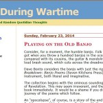 """Review of """"Breakdown: Banjo Poems"""" at Love During Wartime"""