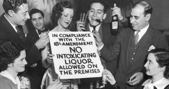 people in a 1920s speakeasy