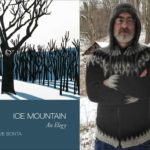 cover of Ice Mountain combined with an author photo