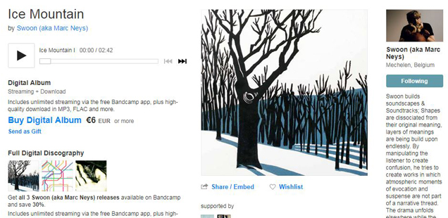 screen capture from Ice Mountain's page on Bandcamp