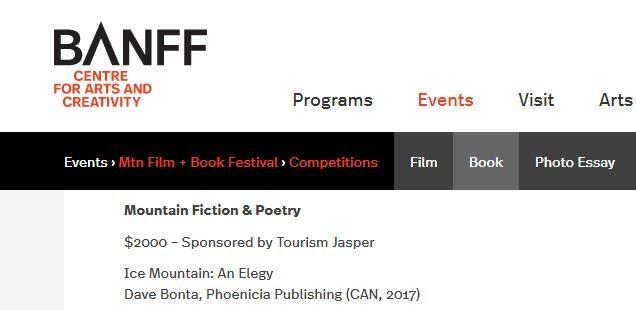 Banff Mountain Book Competition screenshot