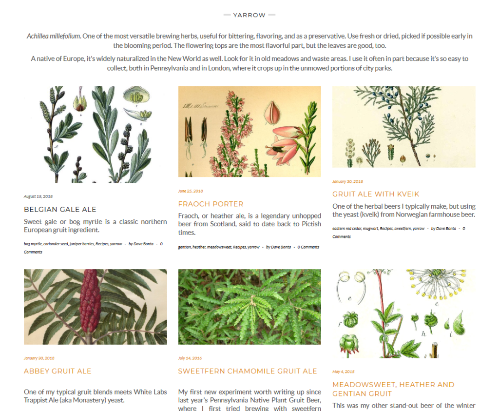 Yarrow page screenshot